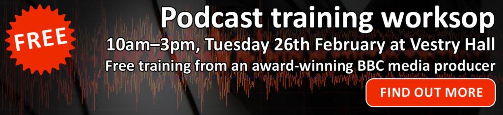Podcasting workshop banner