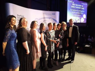 Burngreave and Shiregreen Health Visitors Team get their award.