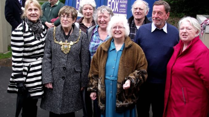 Betty Smalley - 2010 opening of the Ripples project, Firth Park with Lord Mayor, Sylvia Dunkley and other Friends of Firth Park.