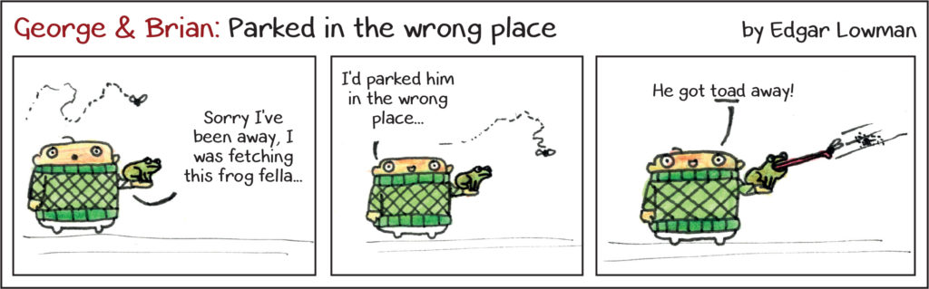 George & Brian: Parked in the wrong place. By Edgar Lowman.