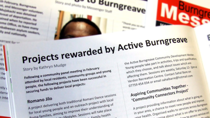 Projects rewarded by Active Burngreave