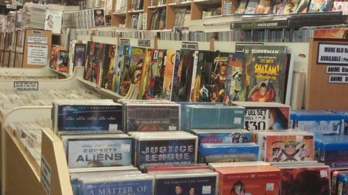 Array of comics, books etc