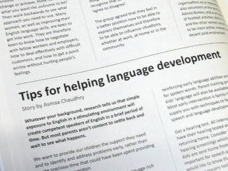 Tips for helping language development.