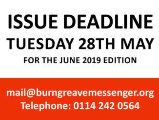 Copy deadline 28th May 2019