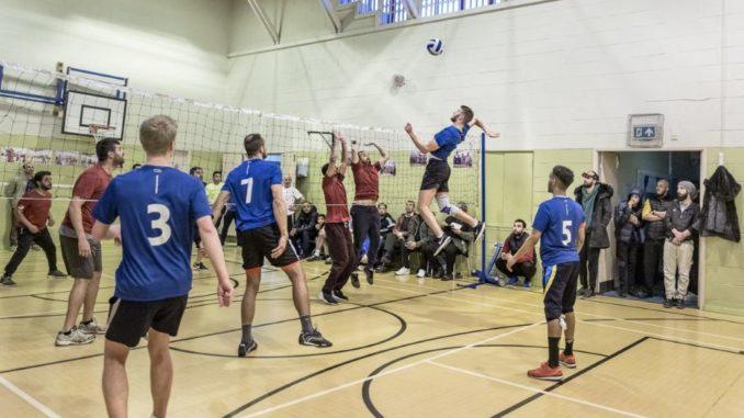 A volleyball shot