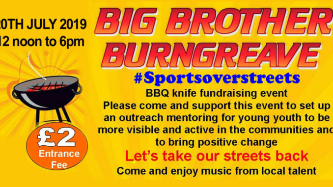 Big Brother Burngreave fundraiser BBQ
