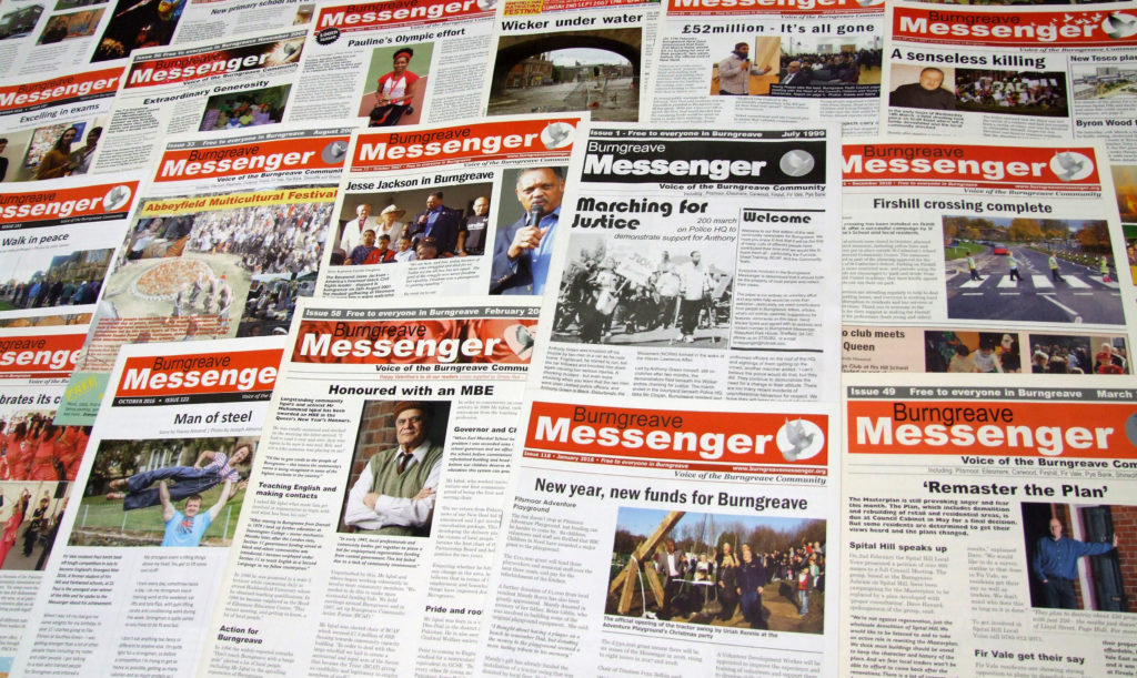 Messenger 20th anniversary spread of issues 2
