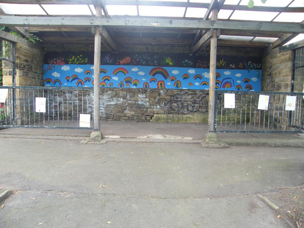 Abbeyfield Park shelter mural