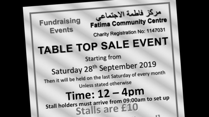 Fatima Centre table top sale