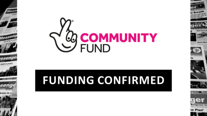 Lottery funding confirmed.