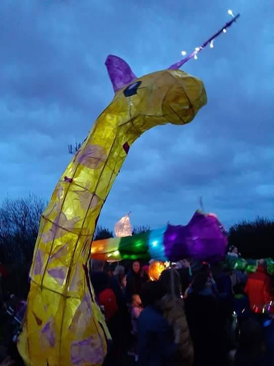 Giraffe-a-corn lantern