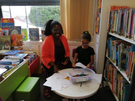 Library volunteer Bonnie