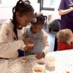 Children making buns