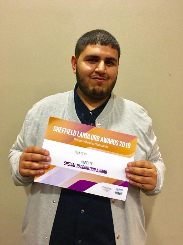 iLet4You Mohammed Rawais receiving the Award