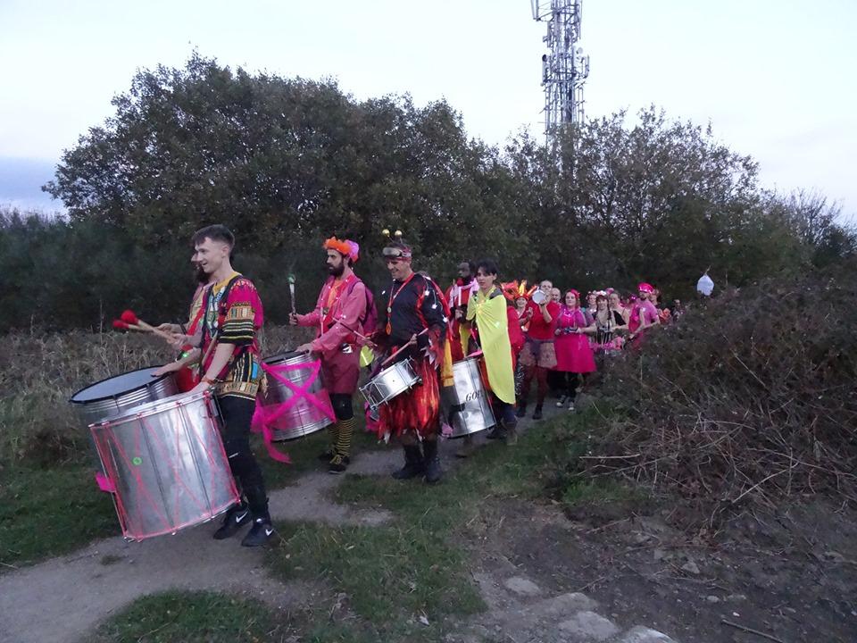 Lantern procession samba band