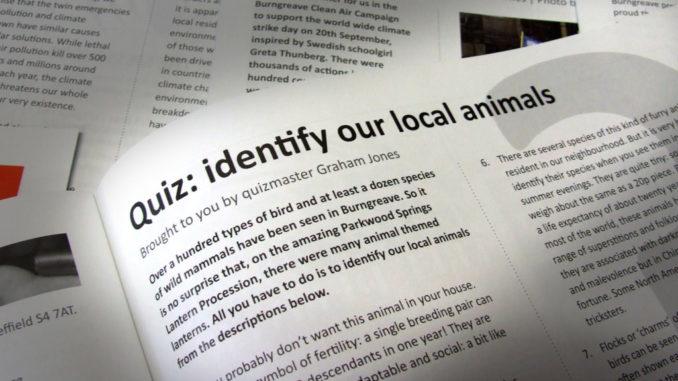 Quiz - identify our local animals