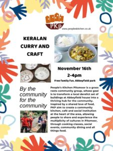 Curry and craft with People's Kitchen Pitsmoor @ Abbeyfield Park House
