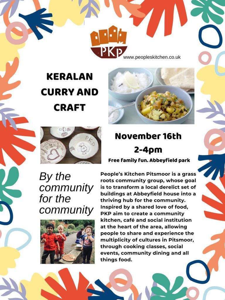 Curry and craft flyer