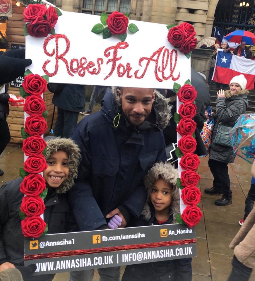 Roses for All photo with Children