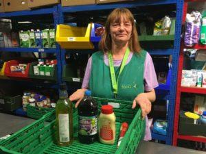 Lisa Durnie at work at The Food Bank