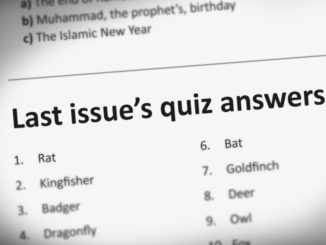 Quiz answers December 2019