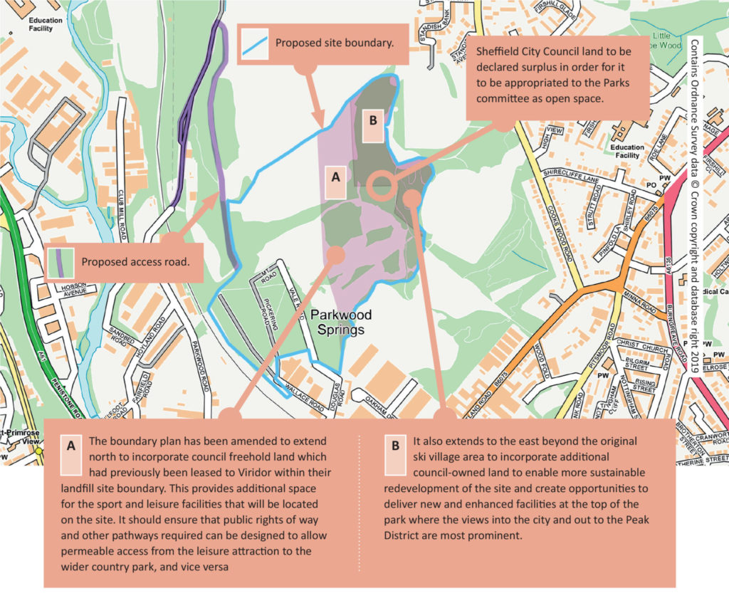 Parkwood Springs map from issue 146