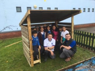 Pye Bank primary's potting shed