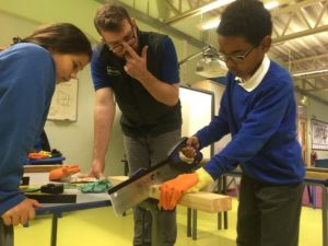 Pye Bank pupils build the shed