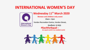 International Women's Day event at Verdon Rec. @ Verdon Recreation Centre