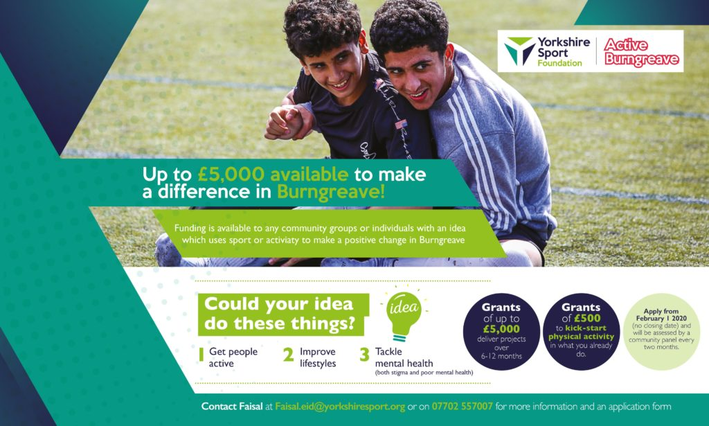 Yorkshire Sport Foundation grant