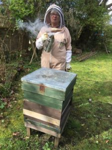 Bee keeper Linda Cawley