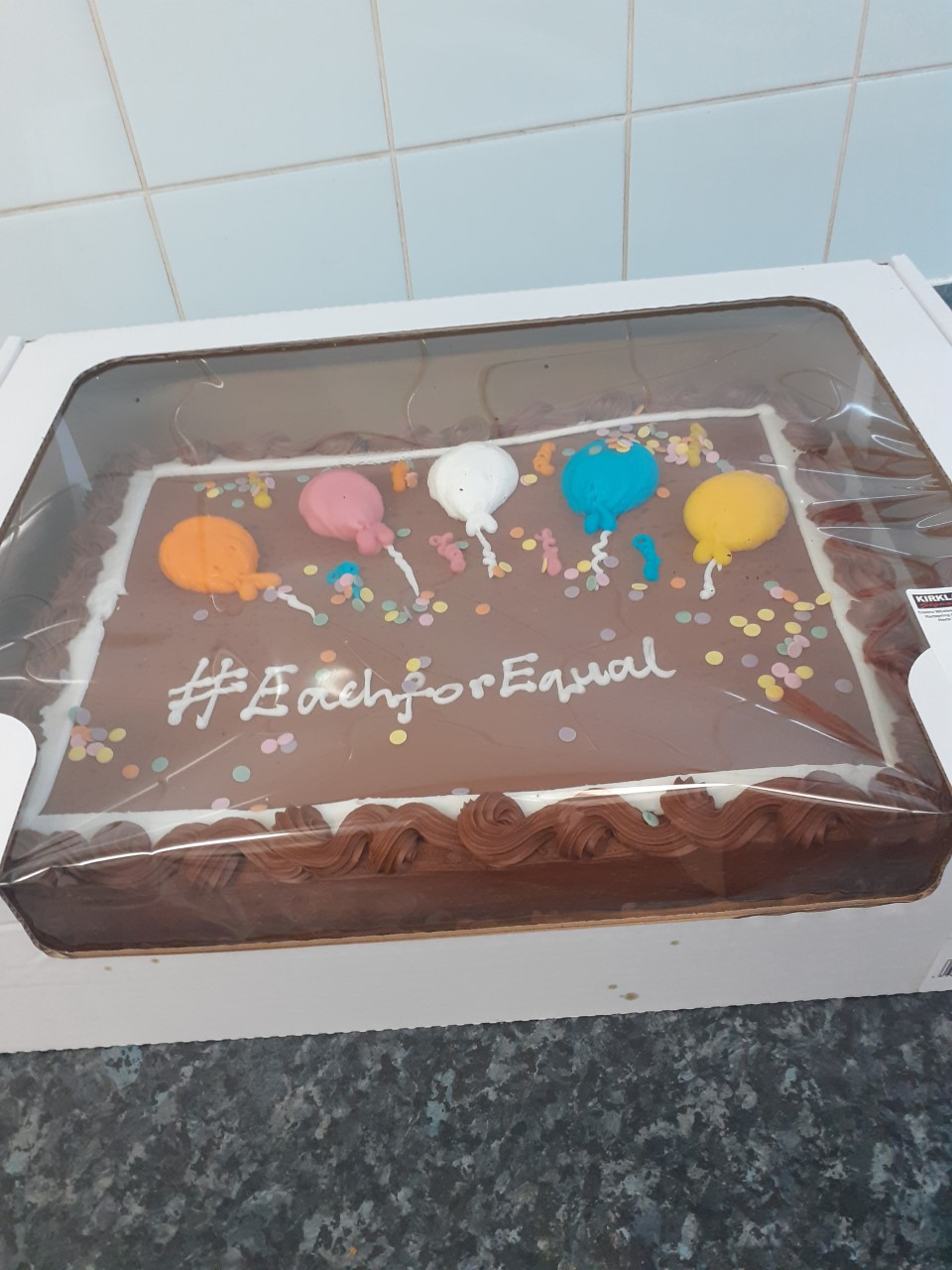 International Womens Day EachForEqual cake