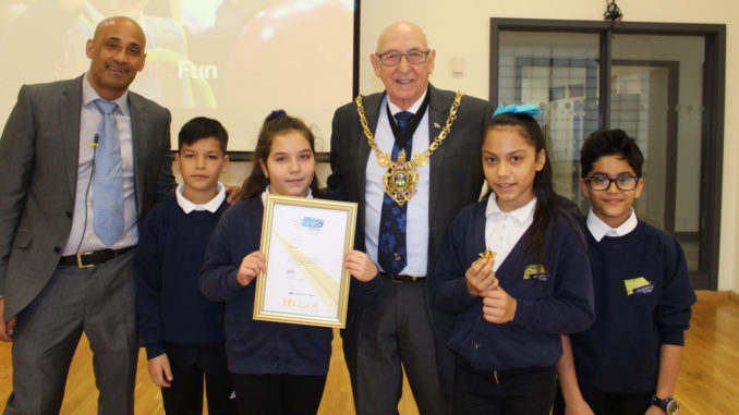 Oasis Academy Fir Vale Modeshift Gold Award winners