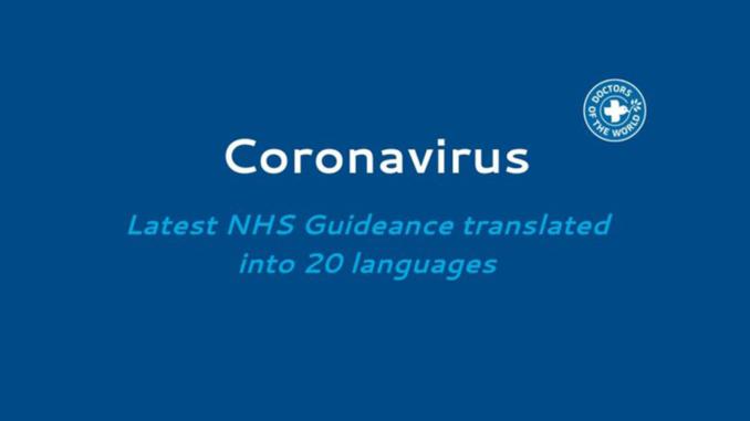 Coronavirus guidance tranlated