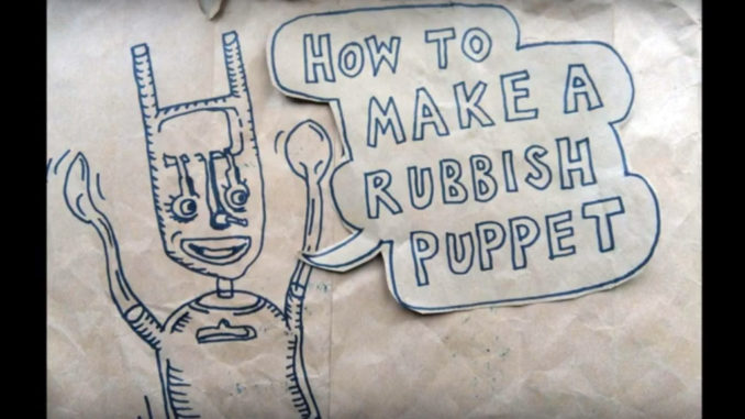 How to make a rubbish puppet