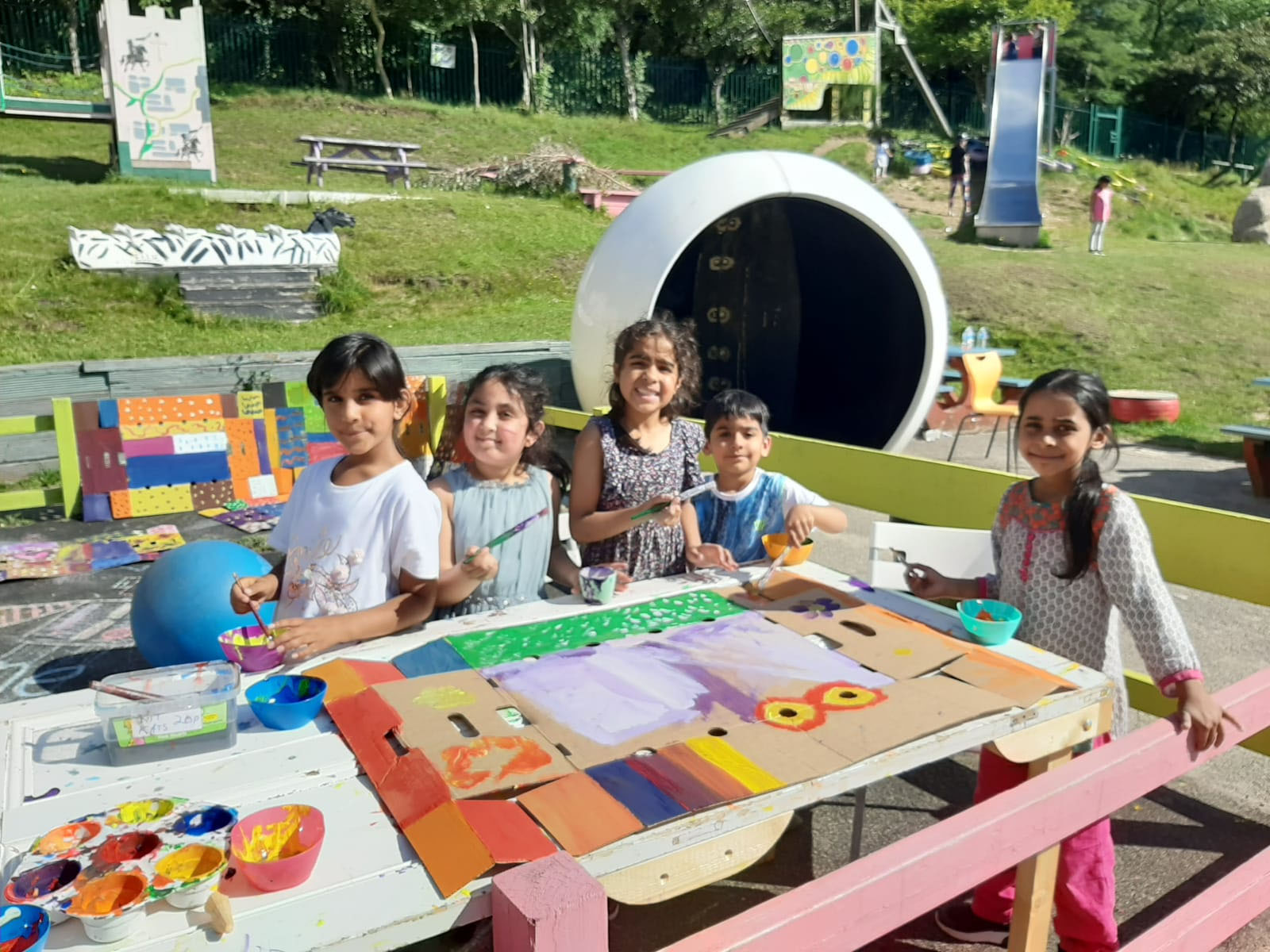 Adventure Playground — Painting outdoors