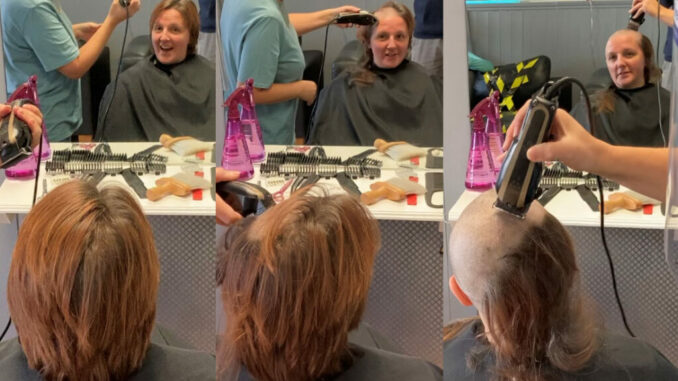 Carolyn Brave the Shave