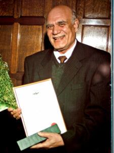 Mohammad Iqbal with his certificate.