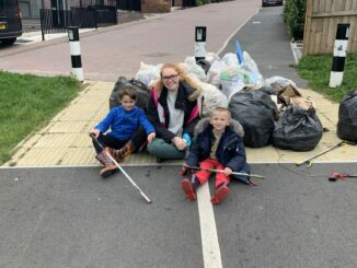 Whiteways litter pick
