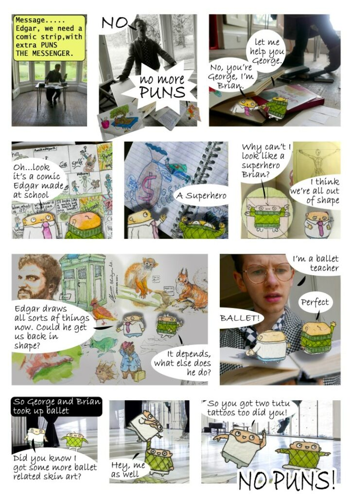 Edgar Lowman comic strip - No More Puns