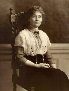 Emmeline Pankhurst seated
