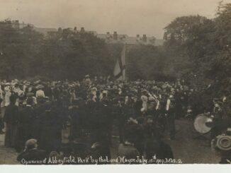 Lord Mayor's parade vintage postcard (courtesy of James Woollen)
