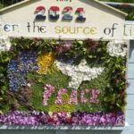 """Well Dressing 2021: """"Peace"""". Photo by Patrick Amber."""