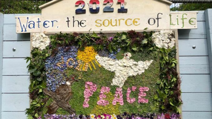 """Well Dressing """"Peace"""" 2021"""