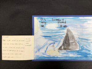 Meerkat Mail child's artwork.