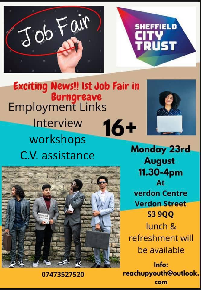 Verdon Centre Job Fair flyer