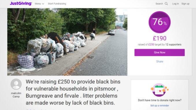 Black bins fundraiser