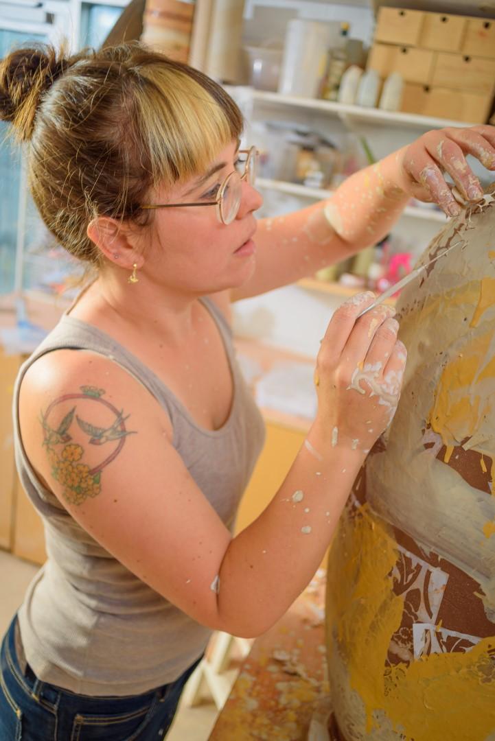 Emilie Taylor at work