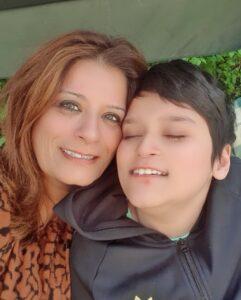 Falak Zeb with Daniyal.