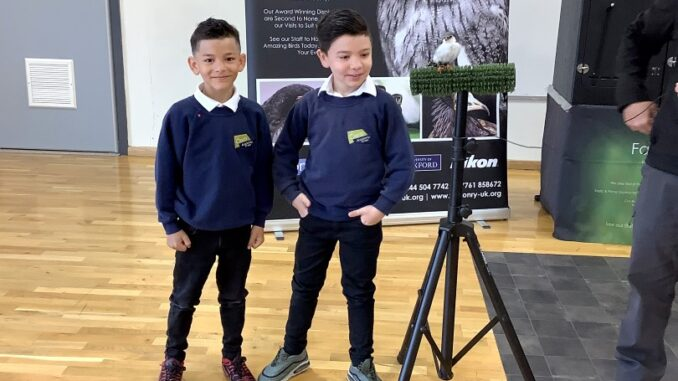 Oasis Pupils during falconry visit